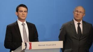 Le Premier ministre français Manuel Valls lors de la présentation de son plan d'économie le 16 avril dernier.