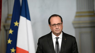 French President Francois Hollande addresses the nation on Saturday following the terror attacks in Paris.