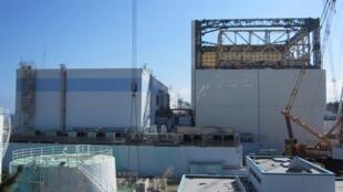 日本福島核電站1號反應堆廢墟攝於2011年9月29日,路透社2011年10月1日發布