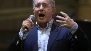 El expresidente Alvaro Uribe (Medellin, febrero de 2014).