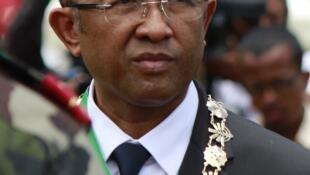 Hery Rajaonarimampianina, le nouveau président malgache, lors de son investiture le 25 janvier à Antananarivo.