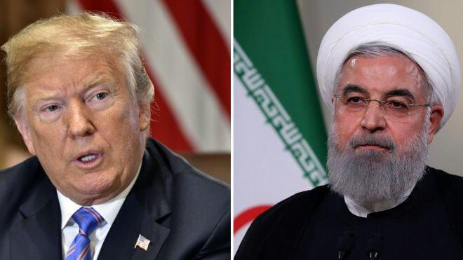 حسن روحانی، رئیس جمهوری اسلامی ایران، و دونالد ترامپ، رئیس جمهوری آمریکا