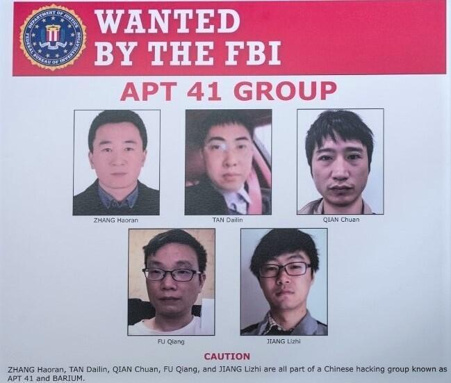 美國通緝五名中國黑客,暗示立場與北京政府接近