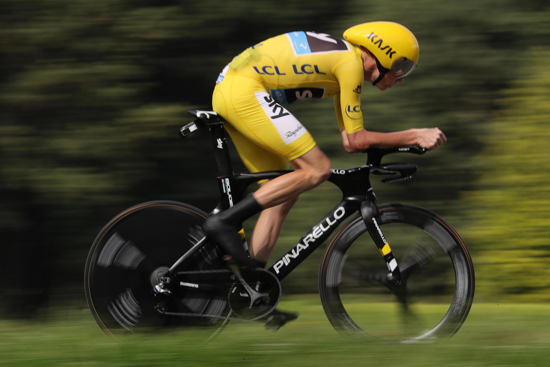 Chris Froome a remporté sa deuxième victoire d'étape sur le Tour 2016 lors du contre-la-montre de Megève, le 21 juillet 2016.