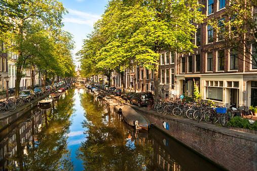 Amsterdam, Bloemgracht, le canal aux fleurs (photo d'illustration).