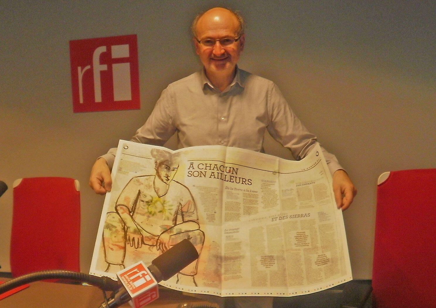 Eric Fottorino, promoteur de l'hebdomadaire «Le 1»