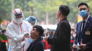 Vietnam - Hanoi - Test Covid - Congres du Parti