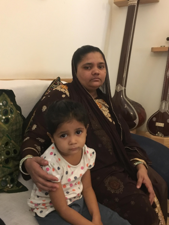 Bilkis Bano with her child Saleha