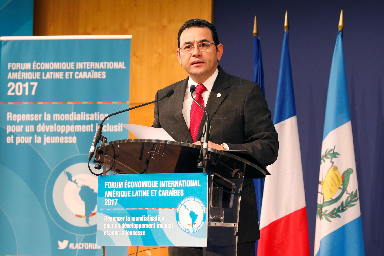 Tổng thống Guatemala, Jimmy Morales tại Paris. Ảnh chụp tháng 6/2017.
