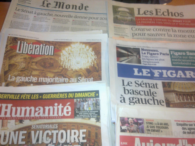 Diarios franceses 26/09/2011