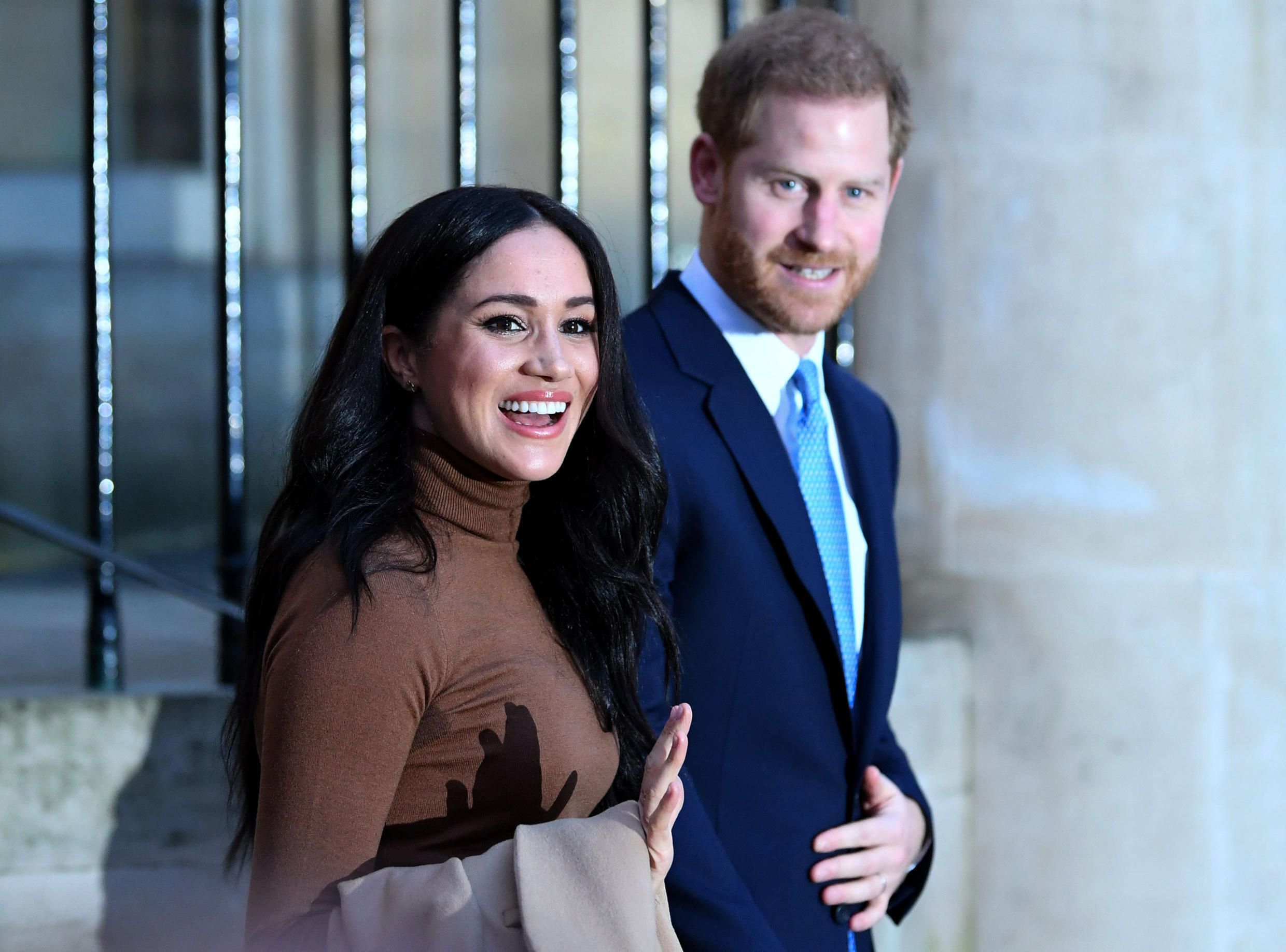 """Britain's Prince Harry and wife Meghan briefly lived in Los Angeles, where they were greeted by a paparazzi """"feeding frenzy"""
