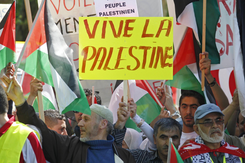 Biểu tình ủng hộ Palestin tại Strabourg, ngày 04/06/2010