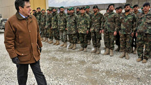 French Prime Minister François Fillon visits French troops in Afghanistan