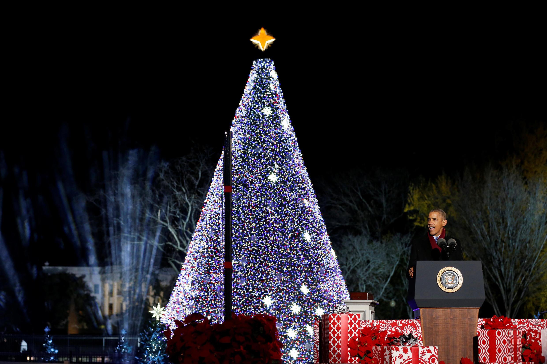Последняя президентская елка Барака Обамы