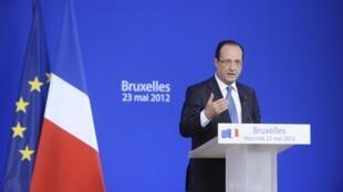 François Hollande a vécu son premier sommet européen mercredi 23 mai 2012