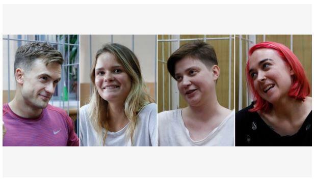Четырем участникам Pussy Riot дали по 15 суток ареста
