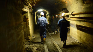 In the tunels of the Trepca mine.
