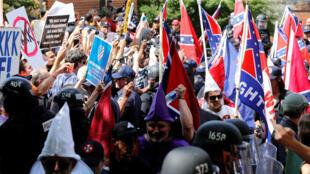 Thành viên của Ku Klux Klan biểu tình ngày 08/07/2017 tại Charlottesville, bang Virginia, Mỹ.