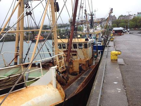 Bateaux de pêche, port de Howth.