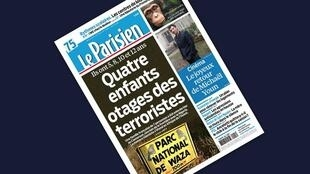 Capa do jornal frances Le Parisien desta quarta-feira, (20)