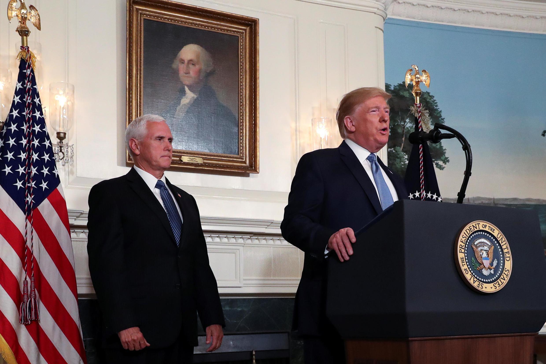 Shugaban Amurka Donald Trump, tare da mataimakinsa Mike Pence.