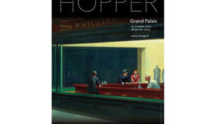 Affiche de la rétrospective consacrée à Edward Hopper au Grand Palais.
