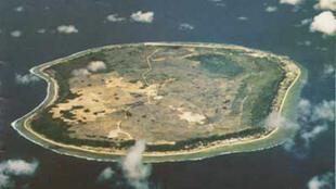 Le petit atoll de la République de Nauru, sur lequel se trouve un camp de migrants.