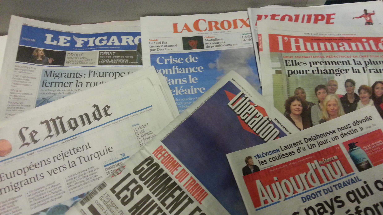 Primeiras páginas dos jornais franceses de 08 de março de 2016
