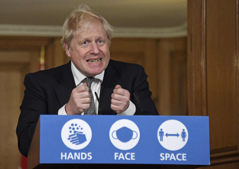 Boris Johnson, Primeiro-ministro britânico. Londres, 31 de Outubro de 2020.