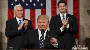 2017年2月28日美國總統特朗普上任後首次對國會發表講演。