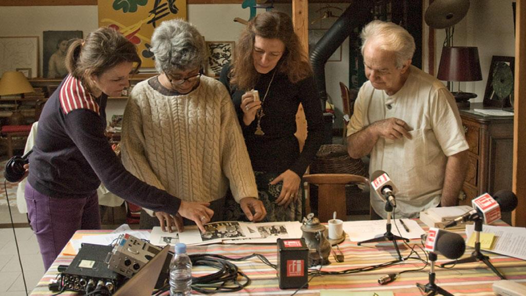 De gauche à droite: Cécile Pompéani, Agnès Wolotegba Boganda, Valérie Nivelon, Jean-Dominique Plénel.