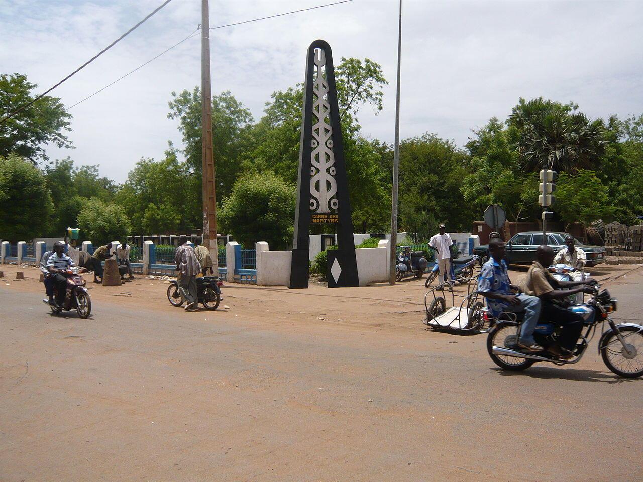 Le Carré des martyrs se trouve à Niaréla, à Bamako.