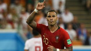 Ricardo Quaresma festeja golo contra o Irão no Mundial de futebol da Rússia a 25 de Junho de 2018