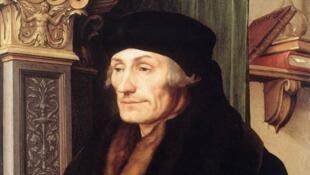 爱拉斯莫 (Desiderius Erasmus en 1523 peint par Hans Holbein le Jeune )