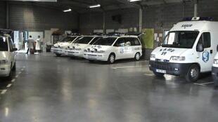 An ambulance garage in Lille