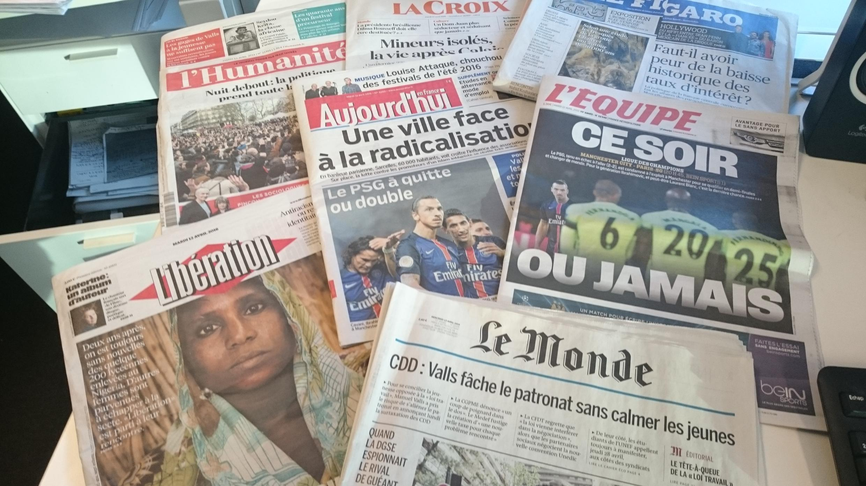 Diários franceses 12.04.2016