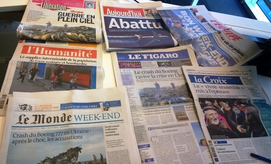 Diários franceses 18/07/2014