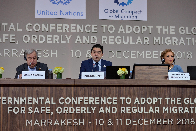 Hội nghị Liên Hiệp Quốc về di trú tại Marrakech (Maroc). Ảnh ngày 10/12/2018.