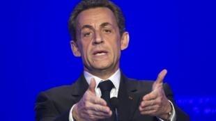 Николя Саркози представляет свою программу. Париж 05/04/2012