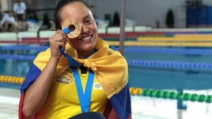 Paula Aguirre Joya, campeona mundial de natación con aletas