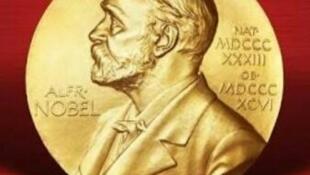 圖為諾貝爾金質獎章