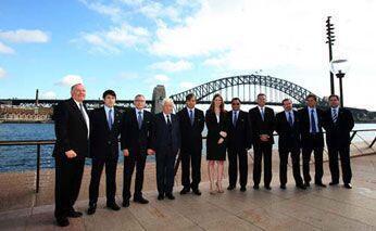 Comitê da Fifa foi recepcionado em Sidney.