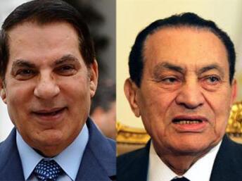 Zine el-Abidine Ben Ali na Tunisia  da Hosni Moubarak na Masar