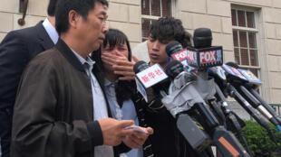 遇害的中国访问学者章莹颖家属6月24日接受媒体采访资料图片