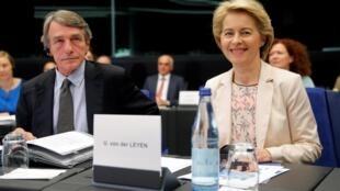 Ursula Von der Leyen, la présidente de la Commission européenne ce jeudi 19 septembre 2019 à Strasbourg.