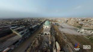Capture d'écran du documentaire en réalité virtuelle «Les Ailes de Mossoul».