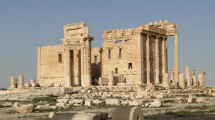El Templo de Bel, en la ciudad antigua de Palmira, en Siria.