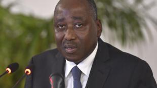 Waziri Mkuu wa Cote d'Ivoire Amadou Gon Coulibaly Aprili 14 huko Abidjan.