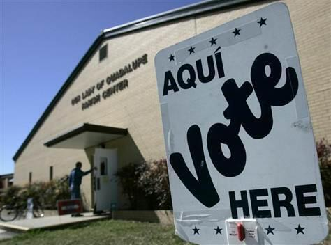 Polling station in Seguin, Texas