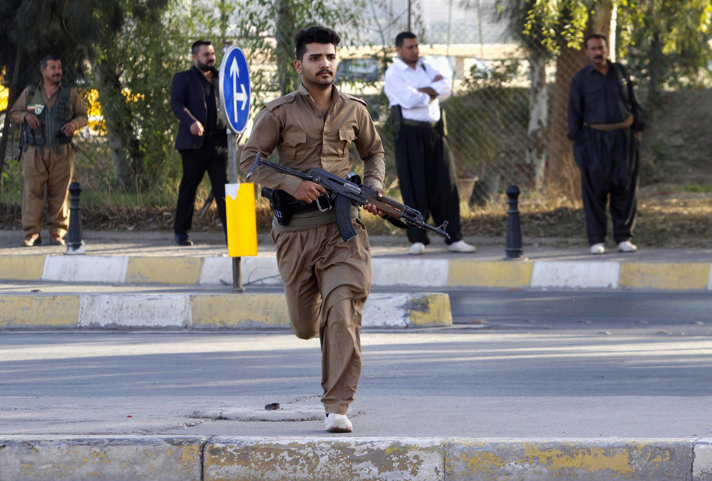 Курдский боец в Киркуке 21 октября 2016.